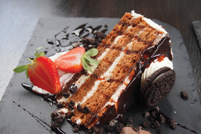 Oreo chocolate cake at The Ladyburn Paisley