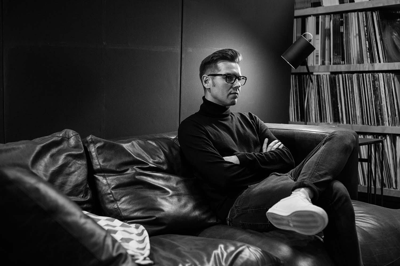 David Sneddon in recording studio